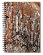 Abstract Coca Cola Sign Spiral Notebook