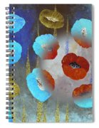 Abstract Colorful Poppies Spiral Notebook