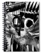 Abstract Composition Of Kitchen Utensils Spiral Notebook