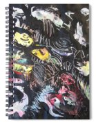 Abstract Fish212 Spiral Notebook