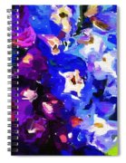 Abstract Floral 031112 Spiral Notebook