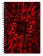 Abstract Flower Spiral Notebook