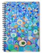 Abstract Flowers Field Spiral Notebook