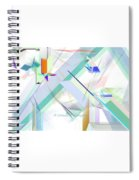 Abstract Flying Objects Spiral Notebook