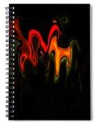 Abstract Fractals Melting 2 Spiral Notebook