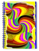 Abstract Fusion 123 Spiral Notebook