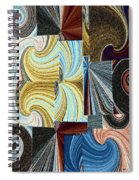 Abstract Fusion 45 Spiral Notebook