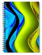 Abstract Fusion 85 Spiral Notebook