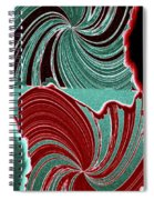 Abstract Fusion 88 Spiral Notebook