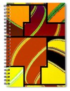 Abstract Fusion 92 Spiral Notebook