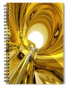 Abstract Gold Rings Spiral Notebook