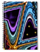 Abstract Hearts Spiral Notebook