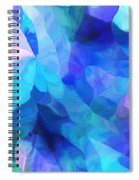 Abstract In Blues 052612 Spiral Notebook