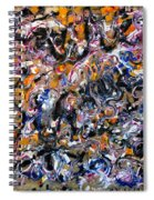 Abstract Interconnection Spiral Notebook