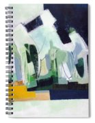 Abstract Island Night And Day Spiral Notebook