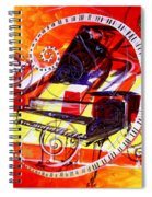 Abstract Jazzy Piano Spiral Notebook