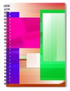 Abstract Number Three Spiral Notebook