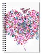 Abstract Pattern Valentine Spiral Notebook