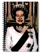 Abstract Portrait Of A Queen Spiral Notebook