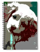 Abstract Pup Spiral Notebook