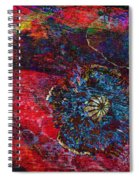 Abstract Red Poppy Spiral Notebook