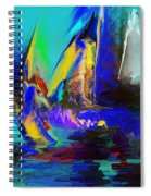 Abstract Regatta Spiral Notebook