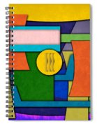 Abstract Shapes Color One Spiral Notebook