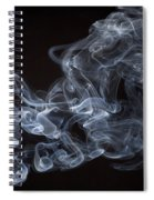 Abstract Smoke Running Horse Spiral Notebook