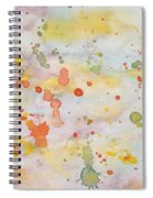 Abstract Summer Sky Watercolor Painting Spiral Notebook