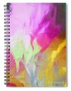 Abstract Summer's Bounty Spiral Notebook