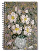 Abstract Wild Roses Heavy Impasto Spiral Notebook