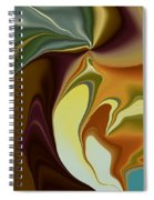Abstract With Mood Spiral Notebook