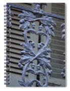 Acorn Railing In New Orleans Spiral Notebook