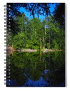 Across The Lake Spiral Notebook