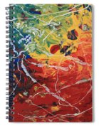 Acrylic  Poured  And  Dripped  2001 Spiral Notebook