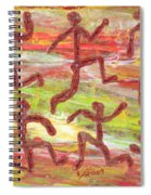 Acrylic Stickmen 2009 Spiral Notebook