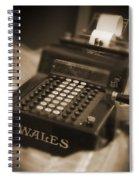 Adding Machine Spiral Notebook