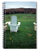 Adirondack Chairs Spiral Notebook