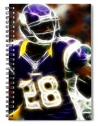 Adrian Peterson 02 - Football - Fantasy Spiral Notebook