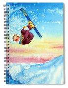 Aerial Skier 13 Spiral Notebook