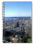 Aerial View - Sydney Harbour Spiral Notebook