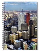 Aerial View From Cn Tower Toronto Ontario Canada Spiral Notebook