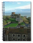 Aerial View Of Dover Castle Spiral Notebook