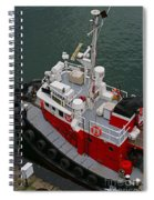 Aerial View Of Red Tug  Spiral Notebook