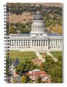 Aerial View Of Utah State Capitol Building Spiral Notebook