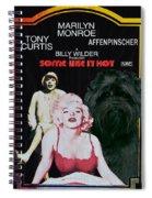 Affenpinscher Some Like It Hot Movie Poster Spiral Notebook