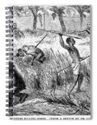 Africa: Ape Hunting Spiral Notebook