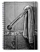 After The Shower - Bw Spiral Notebook