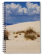Afternoon At White Sands National Monument Spiral Notebook