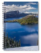 Afternoon Clearing At Crater Lake Spiral Notebook